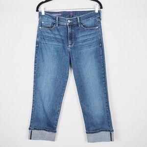 NYDJ Wide Cuff Capri Jeans, Size 6
